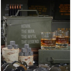 Unusual Retirement Gifts for Dad:Man Myth Legend Personalized Ammo Can Gift..