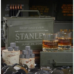 Unusual Gifts (Under $100):Stanford Personalized Ammo Can For Whiskey..