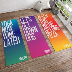 Funny Gifts (Under $50):Funny Yoga Mats With Anti-Slip Black Backing