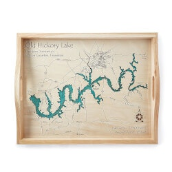 Personalized Christmas Gifts for Husband:Coastal And Lake Art Serving Trays