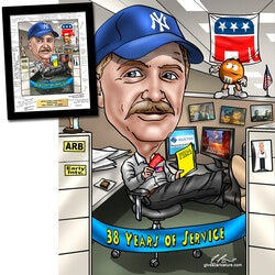 Retirement Gifts:Retirement Gift Caricature