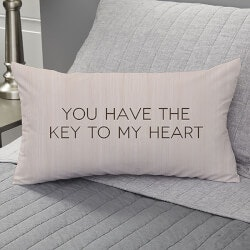 Valentines Day Gifts:Personalized Key To My Heart Lumbar Throw..
