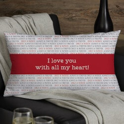 Romantic Gifts (Under $50):Love You This Much Personalized Lumbar Pillow