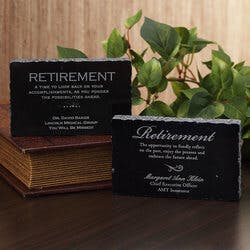 Personalized Retirement Gift Engraved Marble..