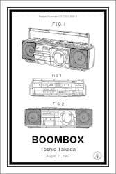 Boombox 12x18 Patent Print