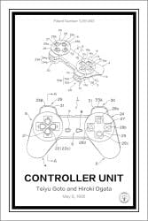 Playstation Controller Patent Print