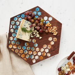 Wooden Honeycomb Cheese Board