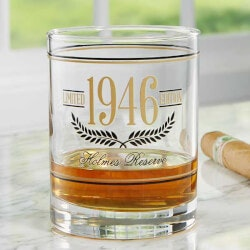 Aged To Perfection Personalized Glass