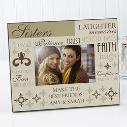 Personalized Christmas Gifts for Sister:Her Best Qualities Frame