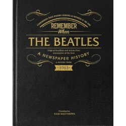 Birthday Gifts for Men:Beatles Newspaper History Book