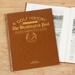 Unusual Birthday Gifts for Brother:Golf History Newspaper Book