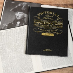 Personalized Christmas Gifts for Husband:Napoleonic Wars Newspaper Book