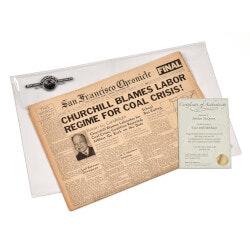 50th Birthday Gifts:Life Milestones Original Newspaper Set