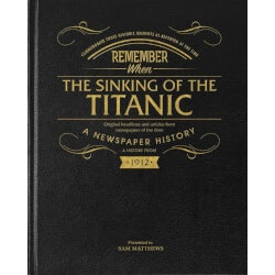 Gifts for Grandfather:Titanic Newspaper Book