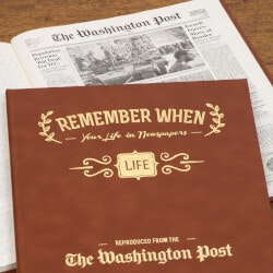 40th Birthday Gifts for Friends:Your Life Newspaper Book