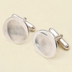 Unusual Gifts for Son:Custom Fingerprint Cufflinks
