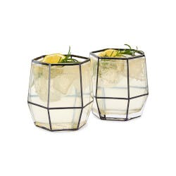 Geo Cocktail Glasses - Set Of 2