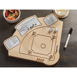 Across The Board: Wooden Tabletop Baseball..