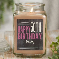 50th Birthday Gifts:Personalized Birthday Candle