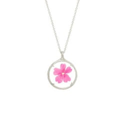 Anniversary Gifts for Girlfriend:Birthmonth Real Flower Pendants
