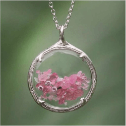 Valentines Day Gifts for Wife:Birthstone Shaker Necklace