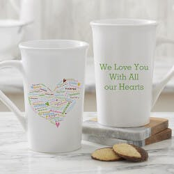 Personalized Latte Mug For Moms, Grandmas -..