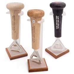 Game-Used Baseball Bat Handle Openers With..