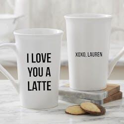 Personalized Latte Mugs