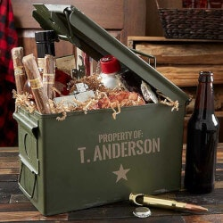 Unusual Retirement Gifts for Dad:Authentic Personalized 30 Cal Ammo Box