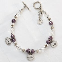 Personalized Charm Bracelet For Mom - Love,..