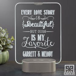 Personalized Romantic Glass LED Light Gifts..