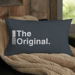 Unique 70th Birthday Gifts:The Legend Personalized Lumbar Throw Pillow