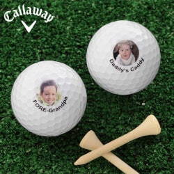 Golf Christmas Gifts for Coworkers:Personalized Photo Golf Balls - Callaway