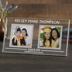 Double Graduation Photo Frame