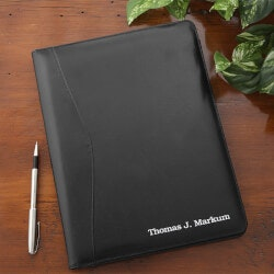 Personalized Christmas Gifts for Husband:Personalized Leather Portfolio