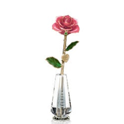 Gifts for Mom:Preserved Rose & Charm For Mom