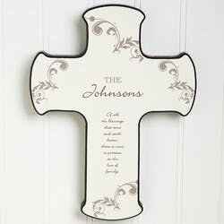 God Bless Our Family Personalized Wall Cross
