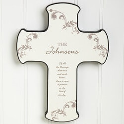 Gifts for Mom:God Bless Our Family Personalized Wall Cross