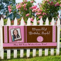 Personalized Photo Birthday Party Banner -..