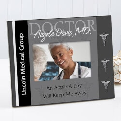 Personalized Doctor Picture Frame - 3 Colors