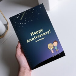 Personalized Christmas Gifts for Husband:Anniversary Love Book
