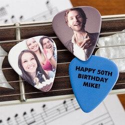 Christmas Gifts for Grandfather:Personalized Photo Guitar Picks