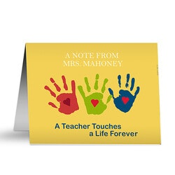 Gifts for Teachers:Personalized Teacher Note Cards - Touches A..