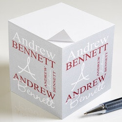 Personalized Sticky Note Cubes - Personally..