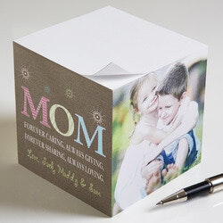 Gifts for Mom:Personalized Photo Notepad Cube For Mom - 3..