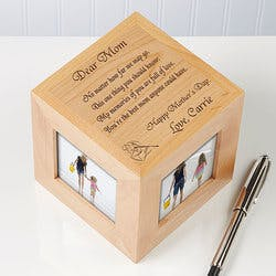 Personalized Wood Photo Cube Frame - Dear..