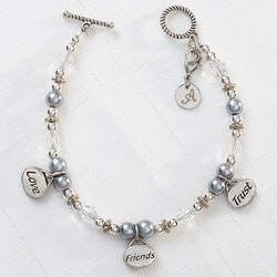 Gifts for Friends:Personalized Charm Bracelets - Love,..