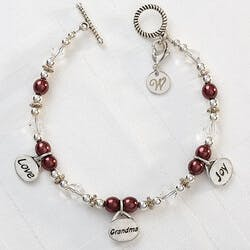 Personalized Charm Bracelet - Love, Grandma,..