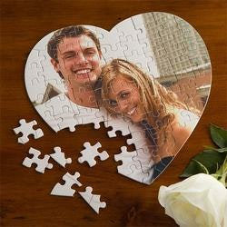 Gifts for Wife:Personalized Heart Photo Puzzle