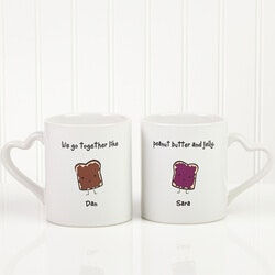 Anniversary Gifts for Girlfriend:Personalized Romantic Mug Set